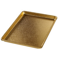 Chicago Metallic 40940 Gold 9 1/2 inch x 13 inch Customizable Bakery Display Tray