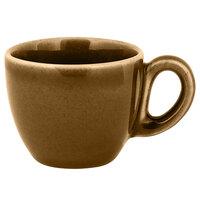RAK Porcelain GN116C08CA Genesis Glossy 2.7 oz. Caramel Porcelain Espresso Cup - 12/Case