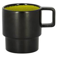 RAK Porcelain FRNOCU20GR Fire 6.75 oz. Green Round Porcelain Stackable Coffee Cup - 12/Case