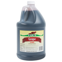 Fox's 1 Gallon Grape Drink Concentrate   - 4/Case