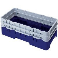Cambro HBR578186 Navy Blue Camrack Customizable Half Size Open Base Rack with 2 Extenders