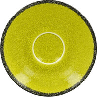 RAK Porcelain FRCLSA13GR Fire 5 1/8 inch Green Porcelain Saucer - 12/Case