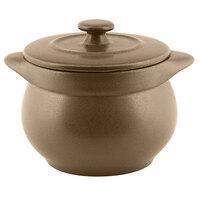 RAK Porcelain GNCFST10CR Genesis Mat 15.20 oz. Crust Round Porcelain Soup Tureen with Lid - 2/Case