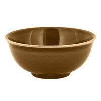 RAK Porcelain GNNNBW12CA Genesis Glossy 9.15 oz. Caramel Round Porcelain Bowl - 12/Case