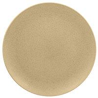 RAK Porcelain GNNNPR31AL Genesis Mat 12 3/16 inch Silky Almond Flat Porcelain Coupe Plate - 6/Case
