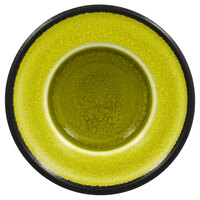 RAK Porcelain FRNOSA1GR Fire 3 15/16 inch Green Porcelain Saucer - 12/Case