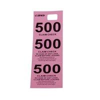 Pink 3 Part Paper Coat Room Check - 500/Box