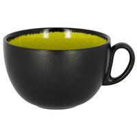RAK Porcelain FR116C45GR Fire 15.2 oz. Green Porcelain Breakfast Cup - 12/Case