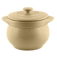 RAK Porcelain GNCFST10AL Genesis Mat 15.20 oz. Silky Almond Round Porcelain Soup Tureen with Lid - 2/Case
