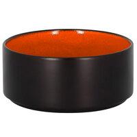 RAK Porcelain FRNOBW12OR Fire 16.25 oz. Orange Round Porcelain Stackable Bowl - 12/Case