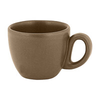 RAK Porcelain GN116C08CR Genesis Mat 2.7 oz. Crust Porcelain Espresso Cup   - 12/Case