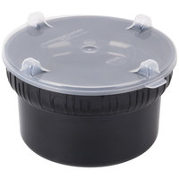 Carlisle 703903 1.9 Qt. Black Gourmet Crock with Lid