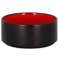 RAK Porcelain FRNOBW14RD Fire 23 oz. Red Round Porcelain Stackable Bowl - 12/Case