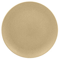 RAK Porcelain GNNNPR24AL Genesis Mat 9 7/16 inch Silky Almond Flat Porcelain Coupe Plate - 12/Case