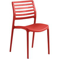 Lancaster Table & Seating Allegro Red Resin Side Chair