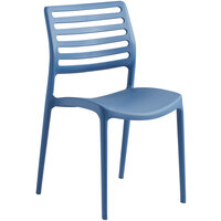 Lancaster Table & Seating Allegro Blue Resin Side Chair
