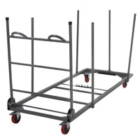 Zown 60241GRY1E Steel Rectangular Folding Table Dolly with Expandable Platform