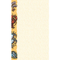 8 1/2 inch x 14 inch Menu Paper - Seafood Themed Buffet Design Left Insert - 100/Pack
