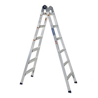 Cosco 20212T1ASE 2-in-1 Aluminum 16' Max Reach 12-Step Multi-Position Step and Extension Ladder