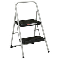 Cosco 11135CLG1E Silver / Black 2-Step Folding Step Stool