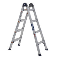 Cosco 20208T1ASE 2-in-1 Aluminum 12' Max Reach 8-Step Multi-Position Step and Extension Ladder