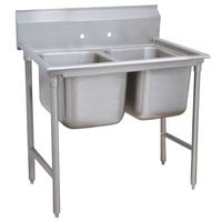 Advance Tabco 9-22-40 Super Saver Two Compartment Pot Sink - 52 inch