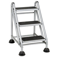 Cosco 11834GGB1 3-Step Commercial Rolling Step Ladder
