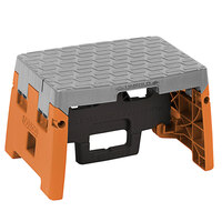 Cosco 11903BGO1E 1-Step Black, Orange, and Gray Molded Folding Step Stool