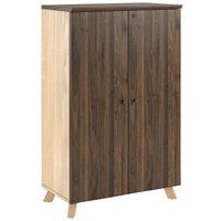 Bridgeport 9293096COM V-1 Walnut Lockable Storage Cabinet - 31 1/2 inch x 17 3/4 inch x 50 3/16 inch