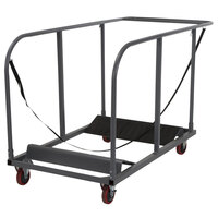 ZOWN 60243GRY1E Steel Round Folding Table Dolly with Expandable Platform