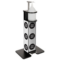 IRP 7515404 Black Freestanding Hand Sanitizing Station / Dispenser with Graphics and Foot Pedal