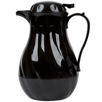 Choice 64 oz. Black Thermal Swirl Coffee Carafe / Server