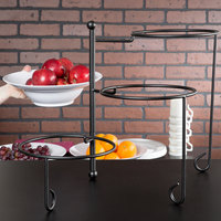 American Metalcraft TTRS3 Ironworks Three-Tier Foldable Round Display Stand