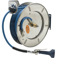 T&S B-7142-08M 50' Open Stainless Steel Hose Reel with B-0108 JeTSpray Spray Valve