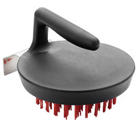 Pizza Stone / Cast Iron Cleaning Brush with Nylon Bristles and Stainless Steel Scraper