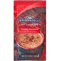 Ghirardelli 0.85 oz. Double Chocolate Hot Cocoa Mix Packet - 250/Case