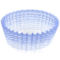 Ateco 6408 1 inch x 3/4 inch Blue Striped Baking Cups (August Thomsen) - 200/Box
