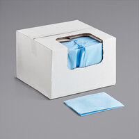 ChoiceHD 13 1/2 inch x 20 inch Blue Medium-Duty Antimicrobial Foodservice Wiper - 150/Case