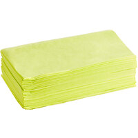 Lavex Janitorial 24 inch x 24 inch Yellow Standard Duty Treated Dusting Cloth - 200/Case