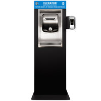 Excel XL-SB-M XLERATOR® Stainless Steel / Black Cover Mobile High Speed Hand Dryer with HEPA Filter - 110/120V, 1450W
