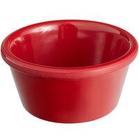 Acopa 3 oz. Red Smooth Melamine Ramekin - 12/Case