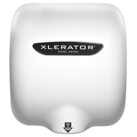 Excel XL-W-H-1.1N 208/277 XLERATOR® White Epoxy Cover High Speed Hand Dryer with HEPA Filter - 208/277V, 1500W