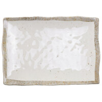 Elite Global Solutions D1281RC-CTS Countryside 12 1/8 inch x 8 1/2 inch Speckled Melamine Rectangular Plate - 6/Case