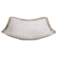 Elite Global Solutions D712SQ-CTS Countryside 22 oz. Speckled Square Melamine Bowl - 6/Case