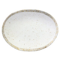 Elite Global Solutions D1181OV-CTS Countryside 11 inch x 8 3/8 inch Speckled Oval Melamine Coupe Plate - 6/Case