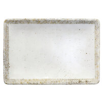 Elite Global Solutions D1061RC-CTS Countryside 10 inch x 6 3/4 inch Speckled Melamine Rectangular Plate - 6/Case