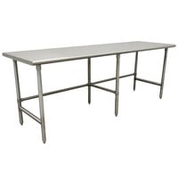 Advance Tabco TSAG-249 24 inch x 108 inch 16 Gauge Open Base Stainless Steel Work Table