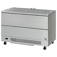 Turbo Air TMKC-58-2-SS-N6 Super Deluxe 58 inch Dual Sided All Stainless Steel Milk Cooler