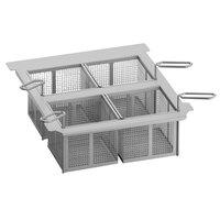 Rational 60.75.979 Four Frying Portion Baskets with Frame for iVario 2-XS Tilt Skillets