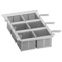 Rational 60.75.307 Six Frying Portion Baskets with Frame for iVario 2-S Tilt Skillets